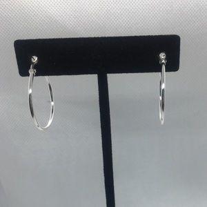 Sterling Silver Hoop Earrings EUC